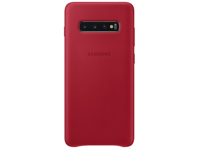 Samsung EF-VG975LR Leather Cover Galaxy S10+, Red