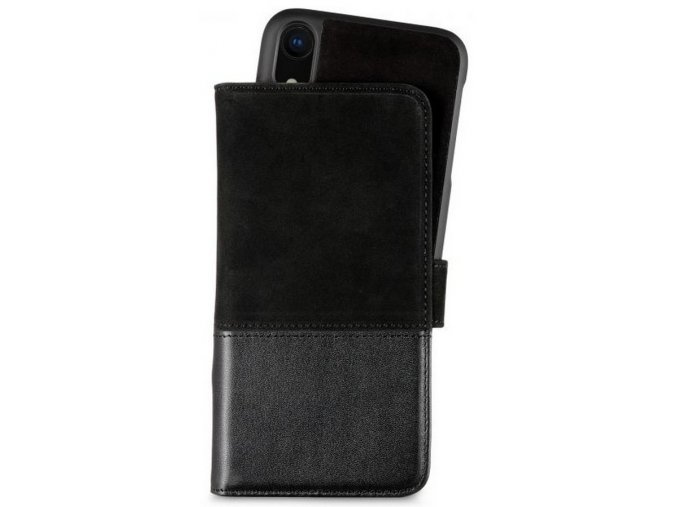 HOLDIT Wallet Case magnet iPhone XR -Black Leat/Su