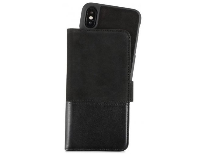 HOLDIT Wallet Case magnet iPhone XS -Black Leat/Su