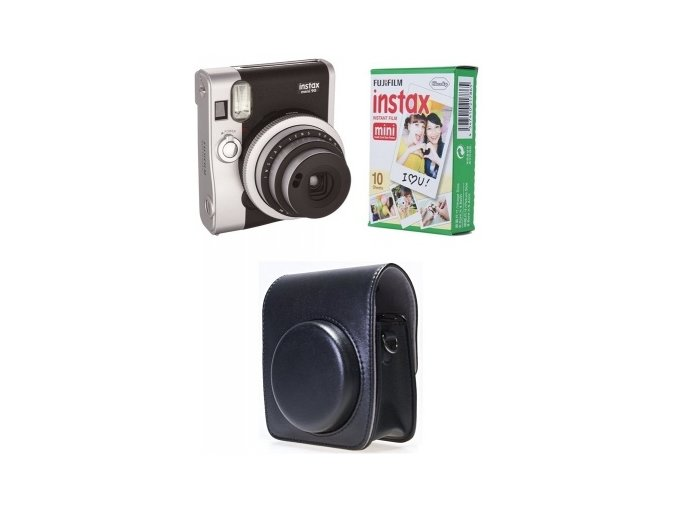 FUJIFILM Instax mini 90 Black + 1x10 film + pouzdr