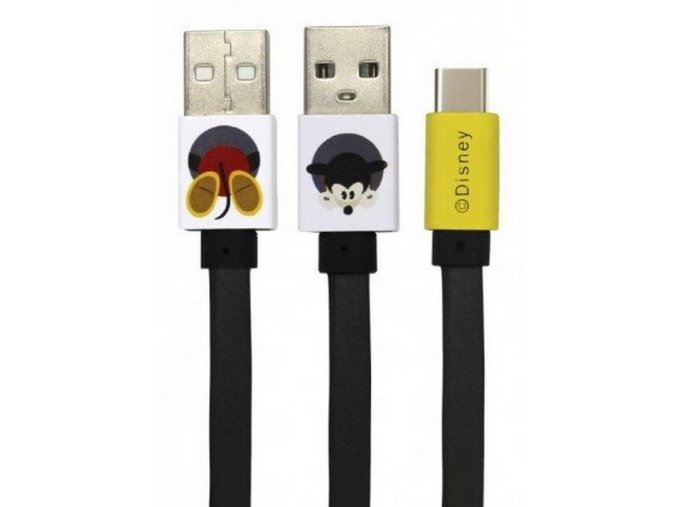 Disney Mickey datový kabel USB-C, Black