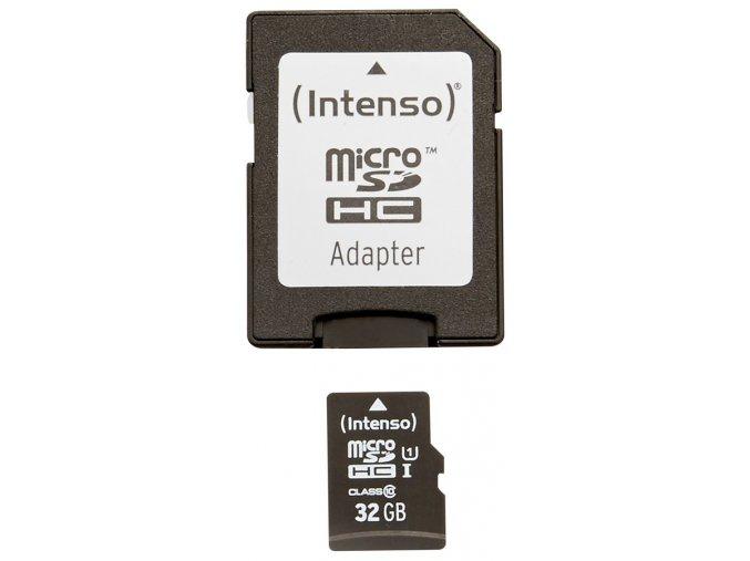 Intenso 32GB micro SDHC Premium UHS-I + adaptér