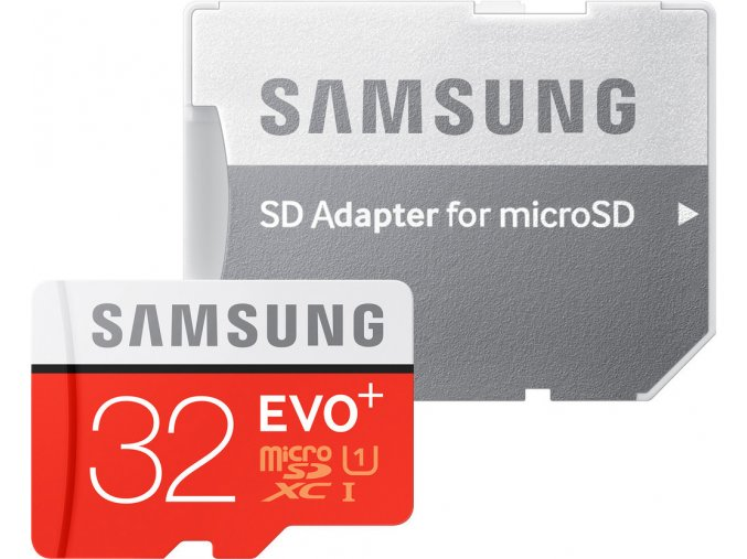 Samsung 32GB microSDHC EVO Plus + SD adaptér