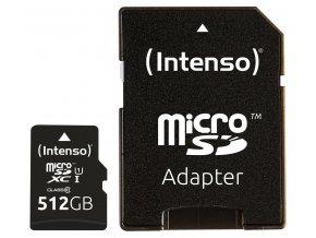 Intenso 512GB micro SDXC Premium UHS-I + adaptér