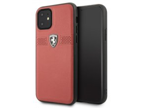 Ferrari Off Track Grained kryt iPhone 11, Red