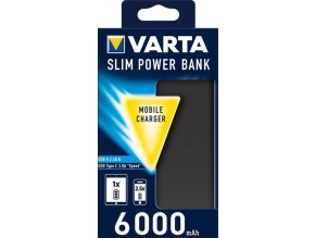 VARTA Power Bank 6000mAh Dual Type C SLIM