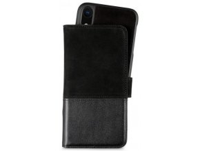 HOLDIT Wallet Case magnet iPhone XR -Black Leat/Su