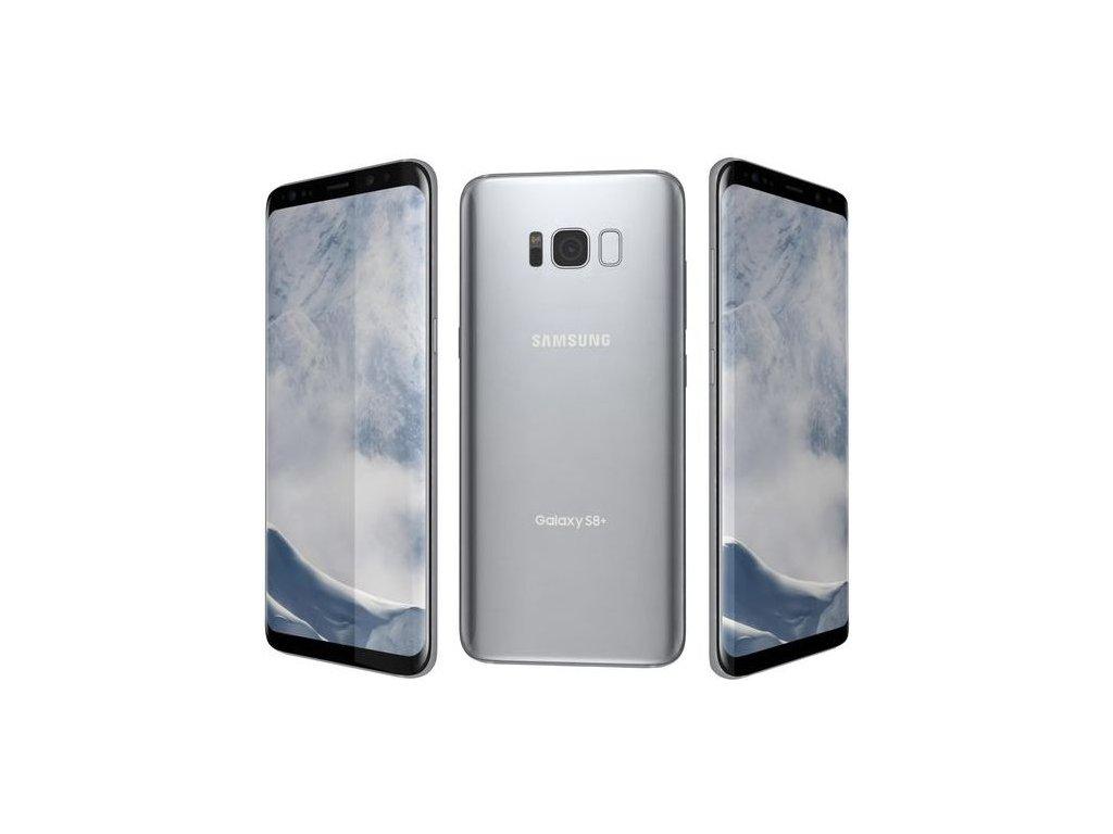 samsung galaxy s8 plus arctic silver 3d model max obj 3ds fbx wrl wrz mtl
