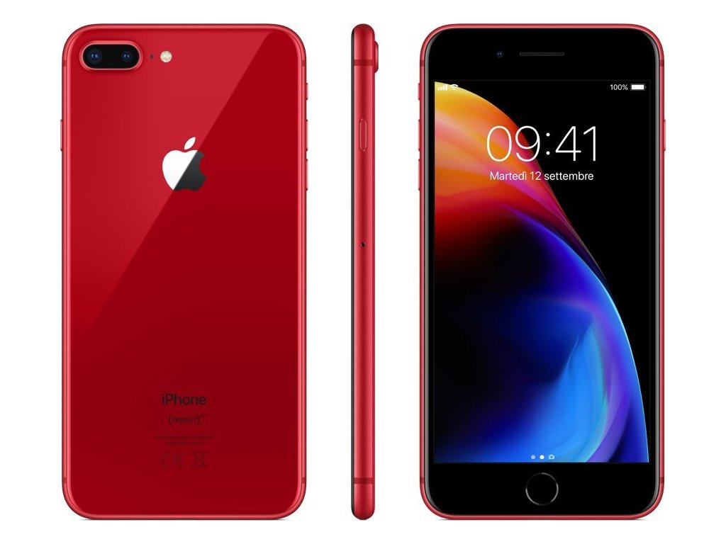 Apple iPhone 8 Plus 64GB, Product(RED)  PŘEDVÁDĚCÍ TELEFON