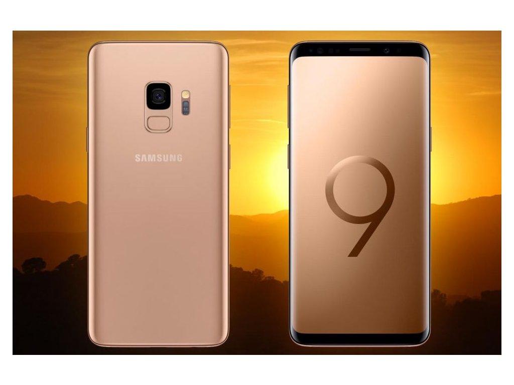 Samsung Galaxy S9+ 256GB Dual SIM Sunrise gold. LIMIT.EDICE  PŘEDVÁDĚCÍ TELEFON
