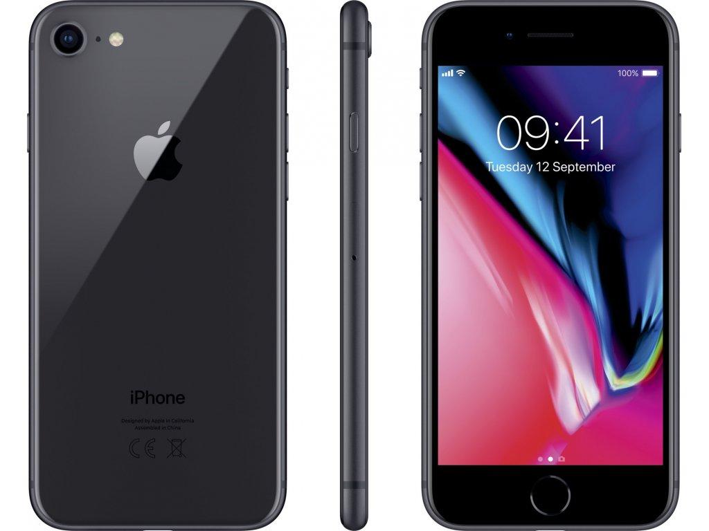 Apple iPhone 8 64GB šedá  100%BATERIE , PŘEDVÁDĚCÍ TELEFON