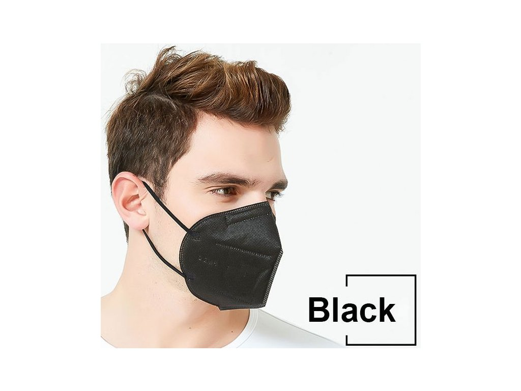 10 Days Delivery 5 Layers KN95 Black Mask Safety Dust Respirator Kn95Mask Face Protective Reusable Mouth 1