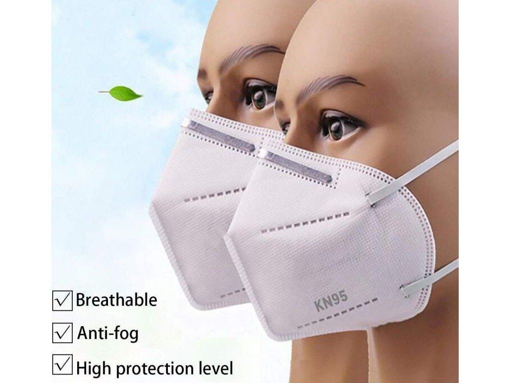 KN95 respirátor KN95 (FFP2) balení po 10ks