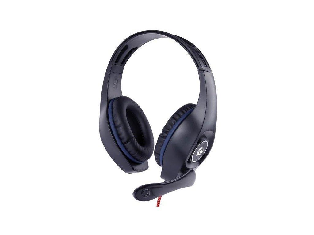 gembird sluchatka s mikrofonem ghs 05 b gaming cerno modra 1x 4 polovy 3 5mm jack