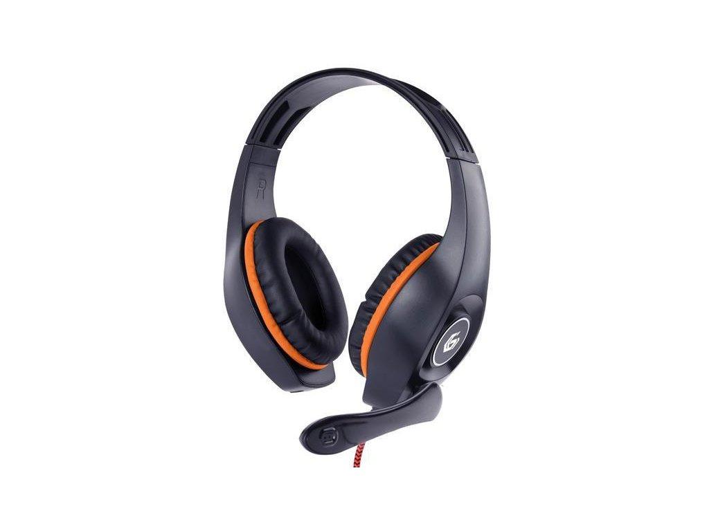 gembird sluchatka s mikrofonem ghs 05 o gaming cerno oranzova 1x 4 polovy 3 5mm jack