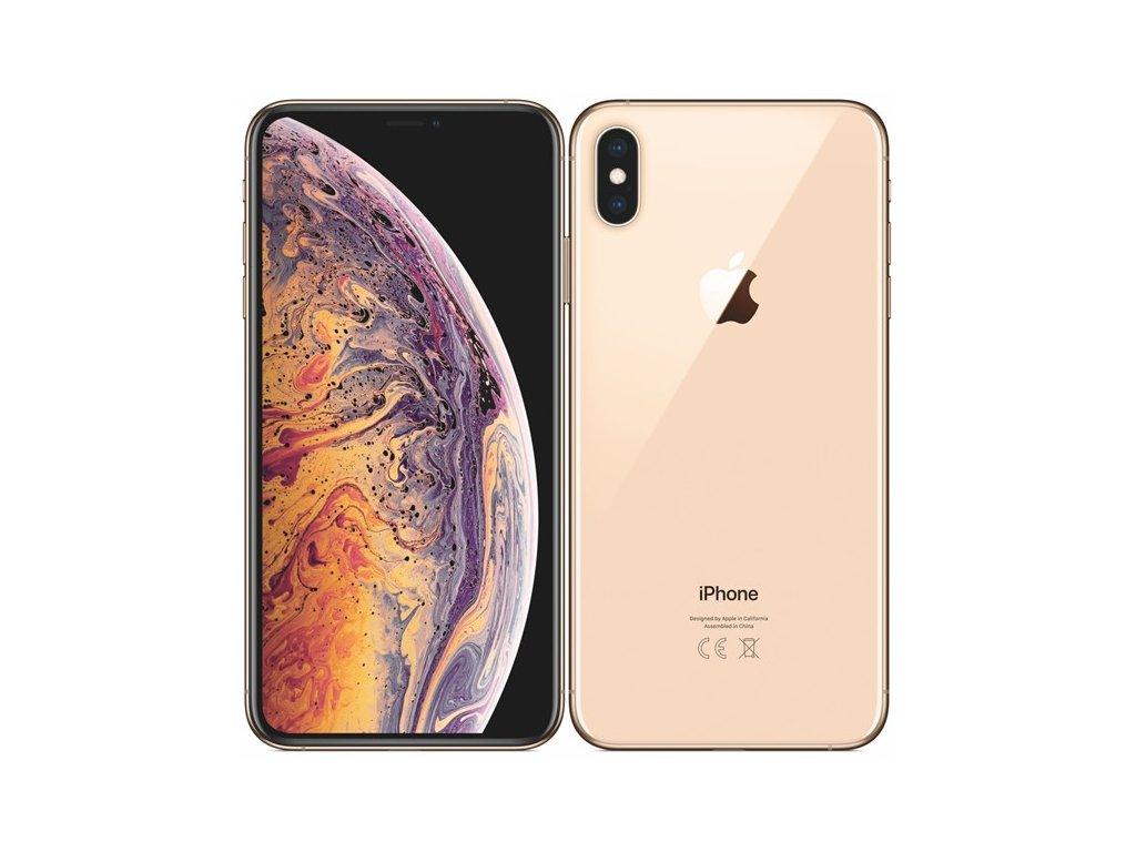 Apple iPhone XS Max 512GB Gold  100% BATERIE   PŘEDVÁDĚCÍ TELEFON