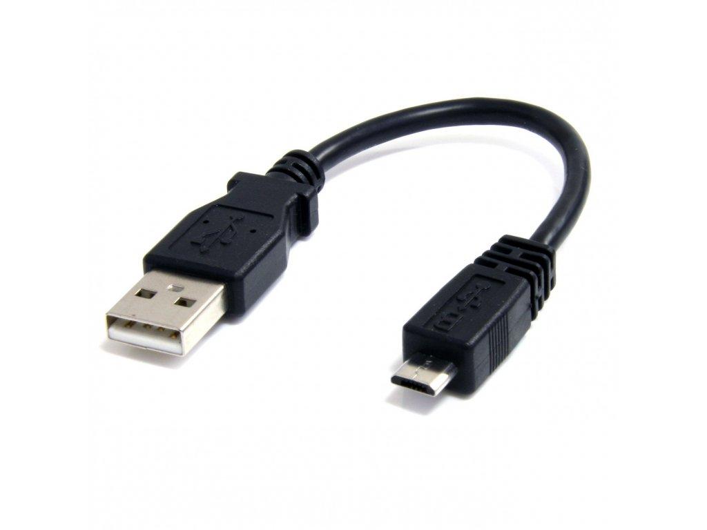 Kabelová redukce USB A samice-Micro USB samec 20cm OTG