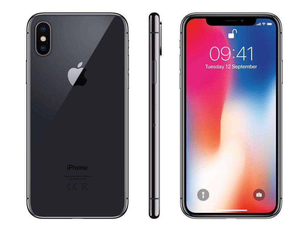 Apple iPhone X 256GB šedá  EKO BALENÍ S ADAPTEREM   PŘEDVÁDĚCÍ TELEFON