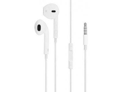 Apple EarPods, s mikrofonem, bílá