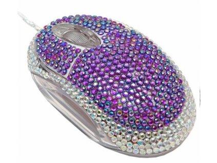 Diamantová Myš s kamínky, Modrá