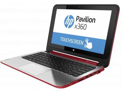 HP Pavilion 11 x360, červená