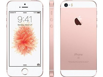 Apple iPhone SE 64GB, růžová/zlatá  +SKLO+SILIKONOVÝ OBAL