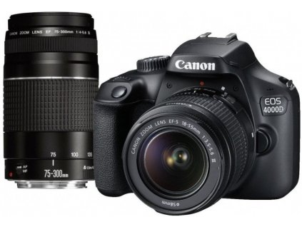 Canon EOS 4000D + EF-S 18-55mm DC + EF 75-300mm DC  + EF-S 18-55mm DC + EF 75-300mm DC