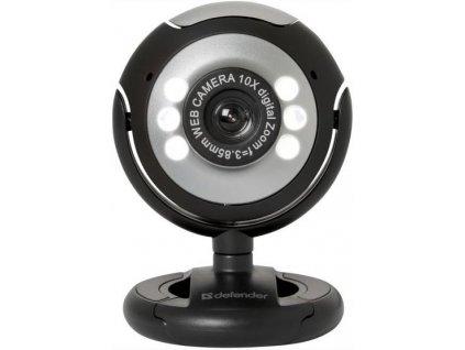 252600 defender web kamera c 110 0 3 mpix usb 2 0 cerno seda pro notebook lcd