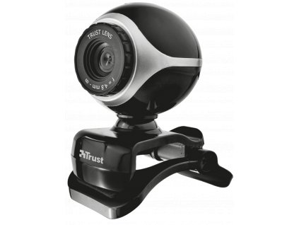 Webkamera Trust Exis Webcam, černo-stříbrná