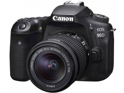 Digitální fotoaparát Canon EOS 90D + 18-55 IS STM černý  Canon EOS 90D + 18-55 IS STM