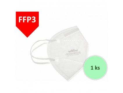 WOOW respirátor FFP3, protective mask 1ks  NEJLEPŠÍ CENA