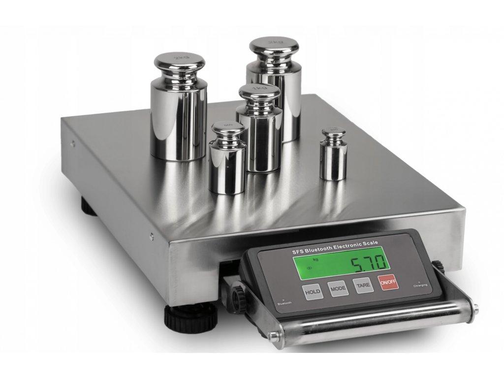 Prenosná váha do 150 kg/50 g 39x30 cm