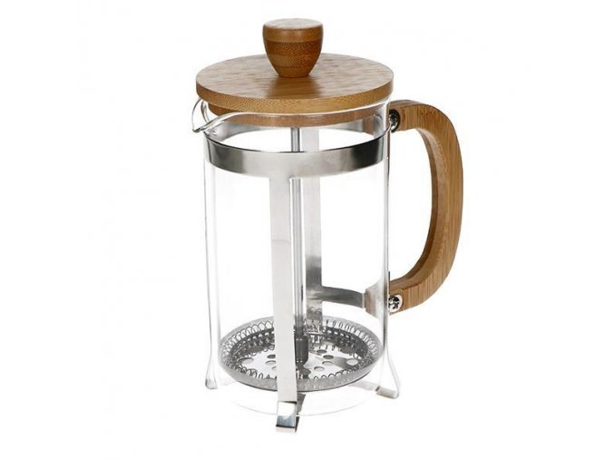 FRENCH PRESS GLASS/BAMBOO 600ml
