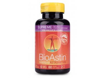 Havajský astaxanthin BioAstin Supreme 6mg vegan Nutrex Hawaii