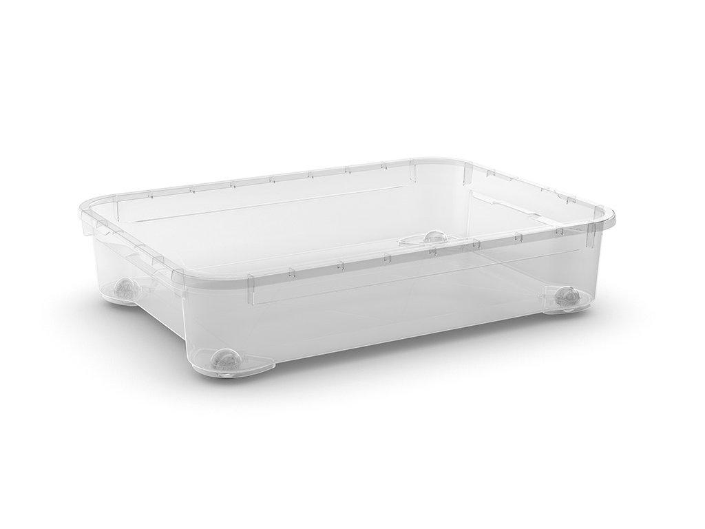 d082c82a5 Plastový úložný box s víkem, průhledný, 54 litrů - Dílenské vybavení
