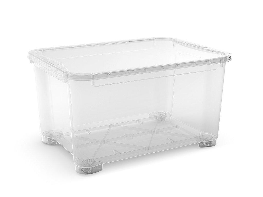 01a62e955 Plastový úložný box s víkem, průhledný, 145 litrů - Dílenské vybavení