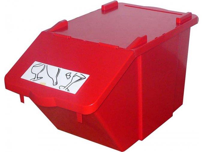 nadoba na trideny odpad cervena