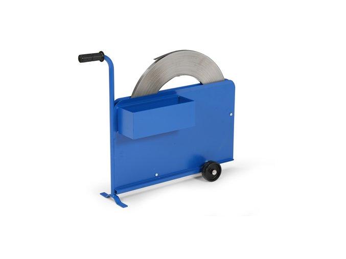 Odvíječ ocelové pásky, krytý
