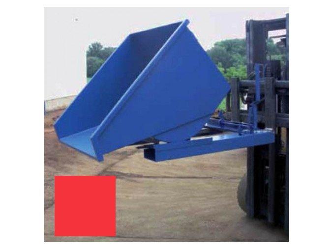 vyklopny kontejner na voziku cerveny