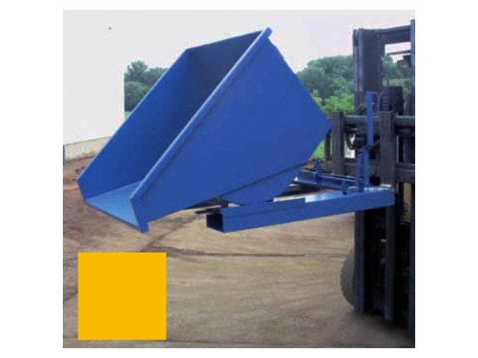vyklopny kontejner na voziku zluty