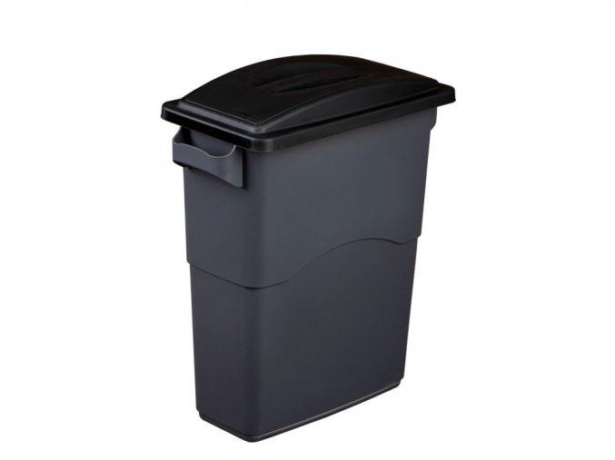 nádoba koš 60 85 L modrá černá zasouvací víko