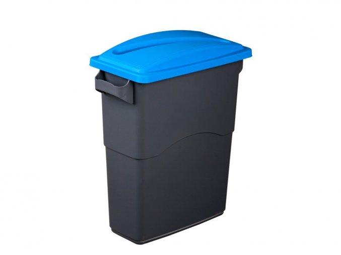 Nádoba na třídění odpadu 60 litrů + modré víko na papír