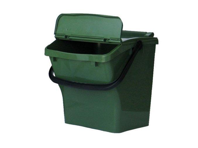 Odpadkový koš plastový na tříděný odpad - zelená
