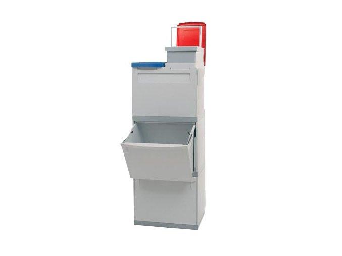 Odpadkový koš na tříděný odpad - 2 x 30 l + 2 x 15 litrů
