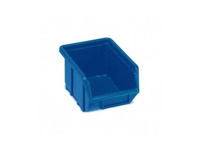 Plastová krabička 76 × 111 × 168, modrá, bal.j. 60 ks