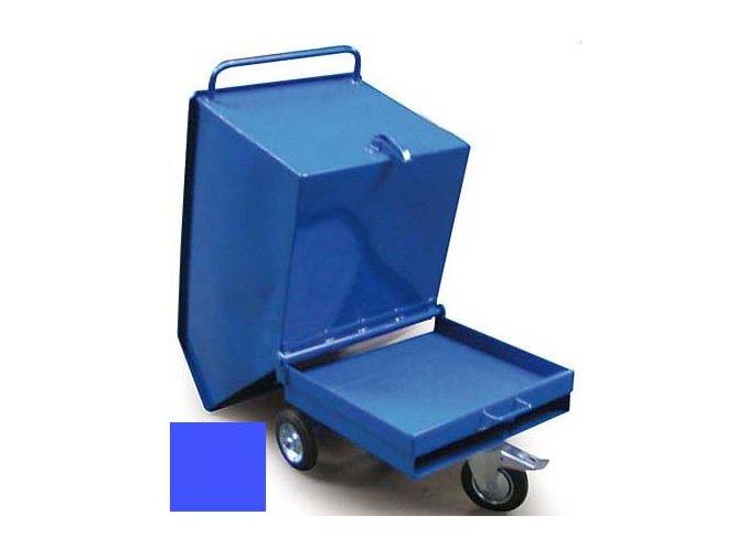 Výklopný vozík na špony, třísky 400 litrů, var, základní, modrý