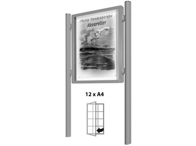 vitincom vitrina oboustranna do strany stribrna samostatna 12xa4