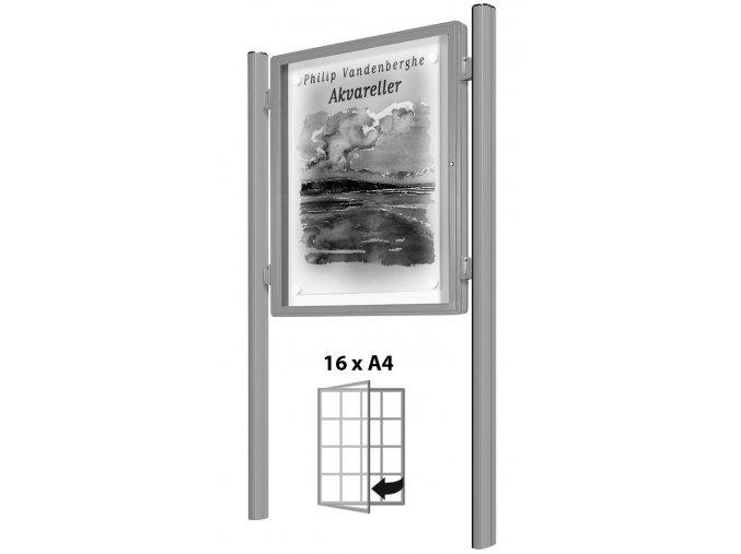 vitincom vitrina oboustranna do strany stribrna samostatna 16xa4
