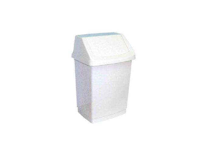 Odpadkový koš, výkyvné víko, 15 litrů