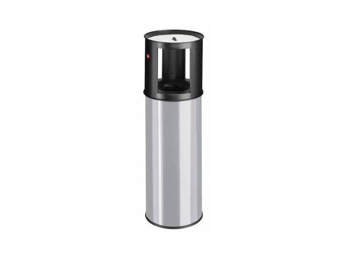 Samozhášecí odpadkový koš s popelníkem, 25l, šedý
